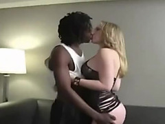 Golden-Haired wife and darksome boy-friend-creampie