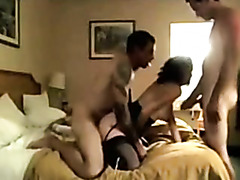 Wife and husband enjoying some guy in Male+Male+Female hotel 3sum.avi