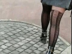 Candid #201 Girl with sexy legs in nice pantyhose