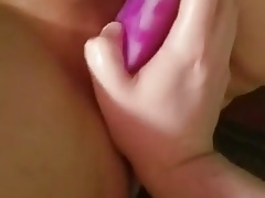 Taking a huge dildo then fist