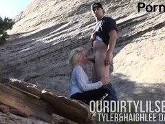 Young Couple Sneaks Off Public Trail for No Hands Blowjob-Ourdirtylilsecret