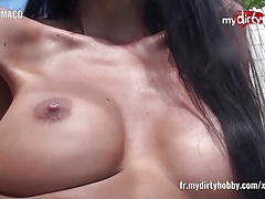 My Dirty Hobby Tanned brunette plays with her dildo
