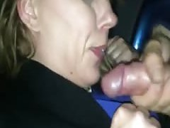 elderly porn sucking off a younger guy in the car