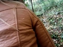 Dirty Bitch Likes Public Doggystyle & Cum Gargle On Woodland Path