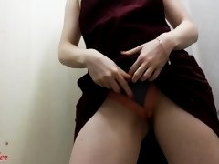 Shy Teen Gets Naughty And Masturbates In Changing Room Over Panties