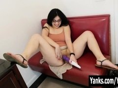 Yanks Brunette Catalina Rene Fucks A Hitachi