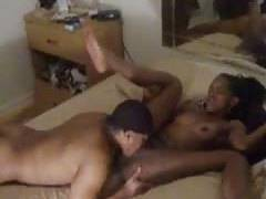 ebony guy mounts good with his chick