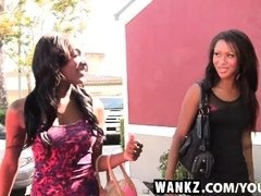 WANKZ- Ebony Ladies Teach Other Sensual Lesbian Sex
