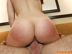 Roughfucked girlnextdoor gets humiliated