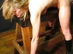 Bondage slave wife forced to jizz