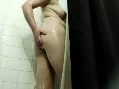 Trinity Rayne bent over in the shower