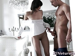 Smalltits euro beauty banged doggystyle