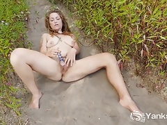 Yanks Sonny Silver Pushes Her Dildo Deep